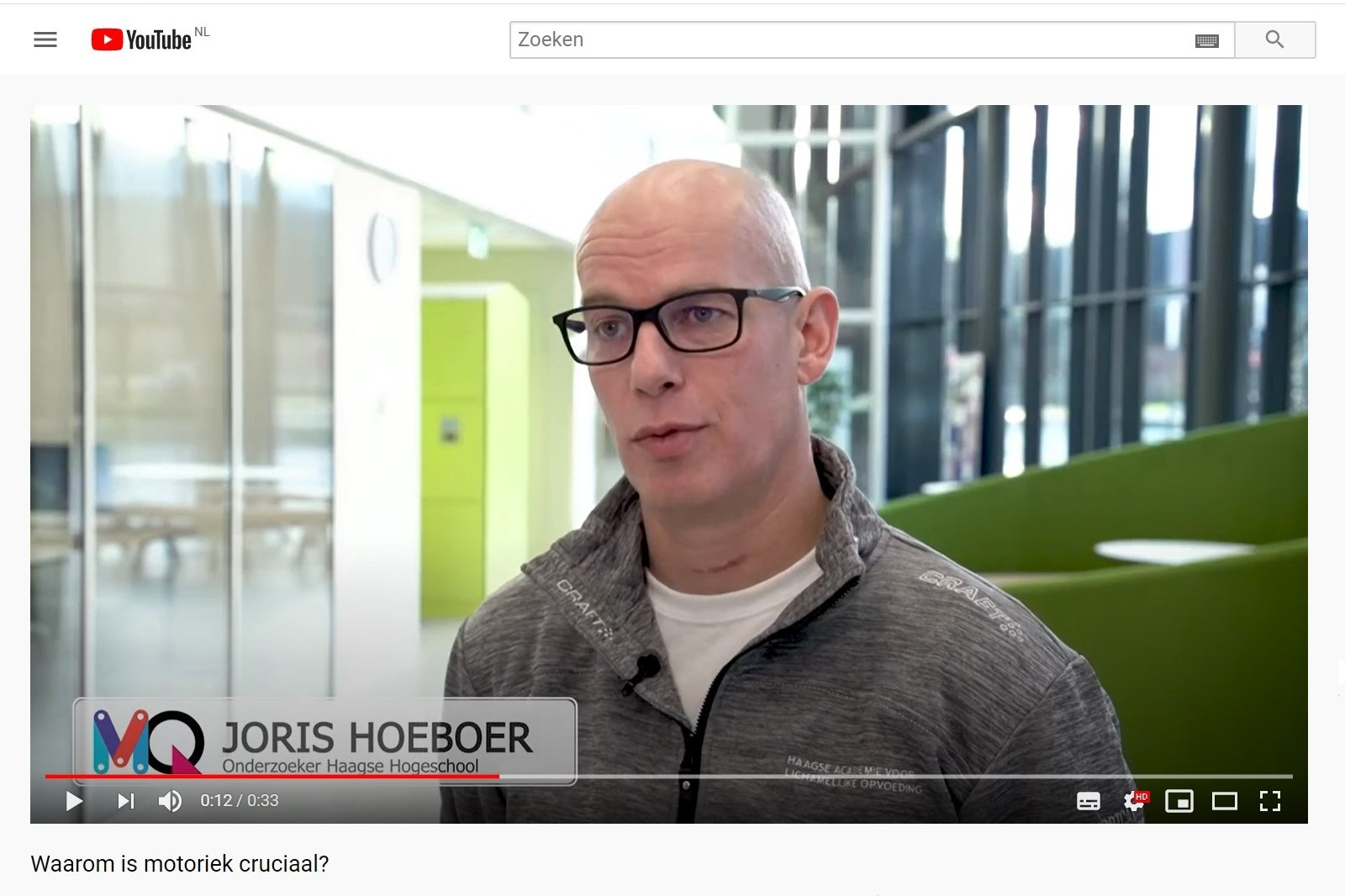 Youtube Video Joris Hoeboer MQ Scan